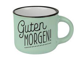 GRAFiK WERKSTATT Espresso Tasse Guten Morgen