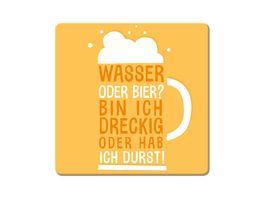 GRAFiK WERKSTATT Korkuntersetzer Wasser oder Bier