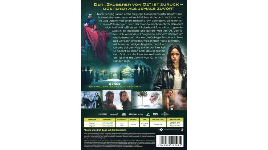 Emerald City Die dunkle Welt von Oz 4 DVDs