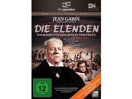 Die Elenden Die Miserablen Der legendaere Kino Zweiteiler DEFA Filmjuwelen 2 DVDs