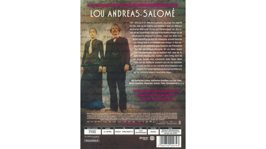 Lou Andreas Salome Softbox mit Booklet im Schuber