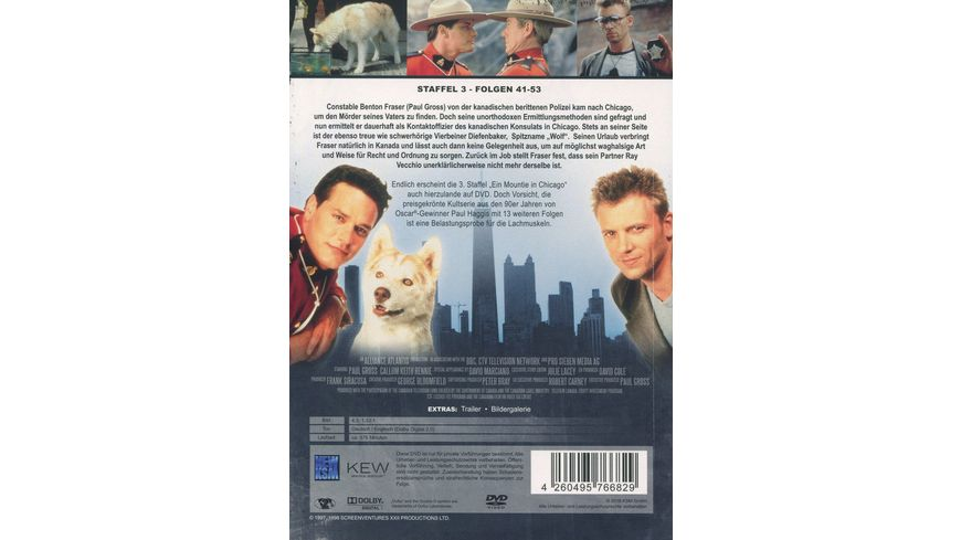 Ein Mountie in Chicago Staffel 3 3 DVDs
