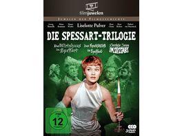 Die Spessart Trilogie Alle 3 Spessart Komoedien mit Lilo Pulver Filmjuwelen 3 DVDs