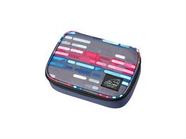 WALKER Pencil Box Big Classic Lines Blue Pink