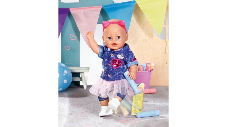 Zapf Creation BABY born Deluxe Jeans Kleid Set 43cm