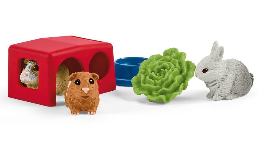 Schleich 42500 Farm World Zuhause fuer Kaninchen und Meerschweinchen