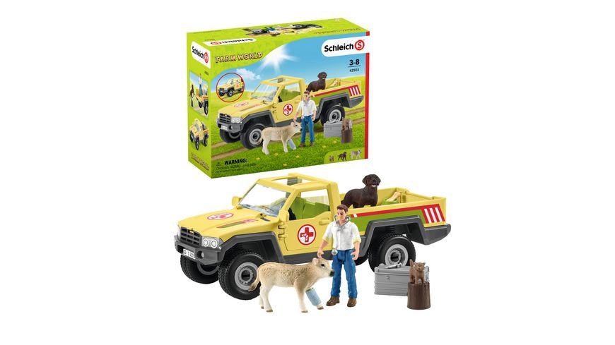Schleich 42503 Farm World Tierarztbesuch auf dem Bauernhof