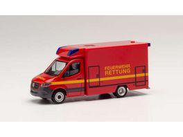 Herpa 095037 Mercedes Benz Sprinter Fahrtec RTW Feuerwehr