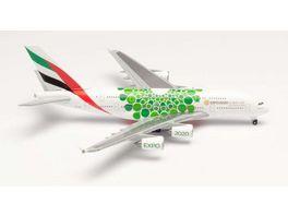 Herpa 533522 Emirates Airbus A380 Expo 2020 Dubai Sustainability livery