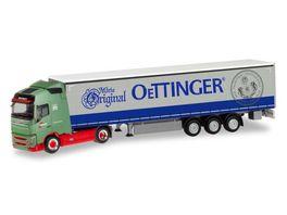 Herpa 311342 Volvo FH GL Gardinenplanen Sattelzug Wandt Oettinger