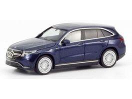 Herpa 430715 Mercedes Benz EQC AMG cavansitblau metallic erstes Elektro SUV von Mercedes Benz