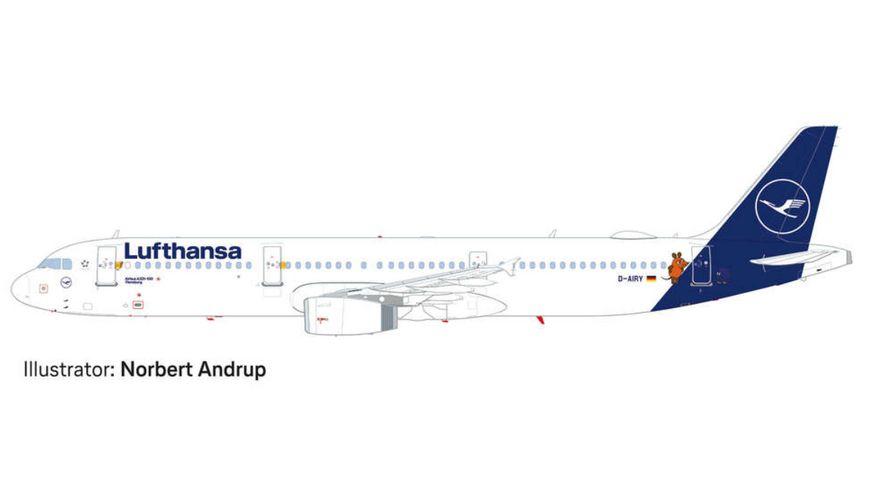 Herpa 612432 Snap Fit Lufthansa Airbus A321 Die Maus
