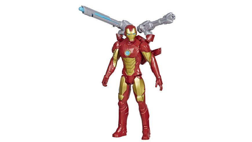 Hasbro Marvel Avengers Titan Hero Serie Blast Gear Iron Man 30 cm grosse Figur mit Starter 2 Accessoires und Projektil