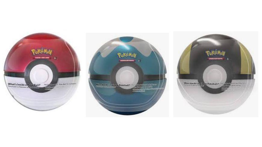 Pokemon Sammelkartenspiel Pokeball Tin Fruehjahr 2020 1 Stueck sortiert
