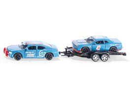 SIKU 2565 Super Dodge Charger mit Dodge Challenger SRT Racing