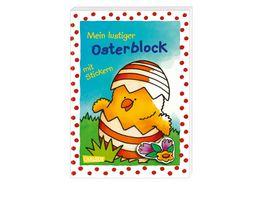 Mein lustiger Osterblock mit Stickern Malspass und niedliche Sticker zum Verzieren
