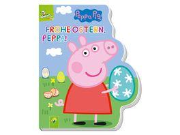 Frohe Ostern Peppa Peppa Pig Pappbilderbuch mit Konturenstanzung