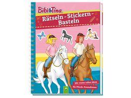 Bibi Tina Raetseln Stickern Basteln Mit vielen tollen Ideen fuer Pferde Freundinnen