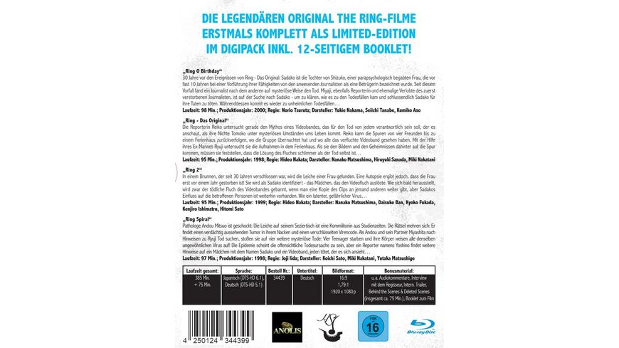 The Ring Limited Legacy Collection Digipack im Schuber plus Booklet 4 BRs