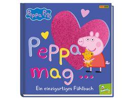 Peppa Pig Peppa mag Ein einzigartiges Fuehlbuch Pappbilderbuch mit Fuehlelementen