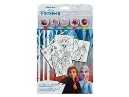 Undercover FRUW1300 Frozen II Ausmalblock mit 5 Buntstiften und Radierertoppern