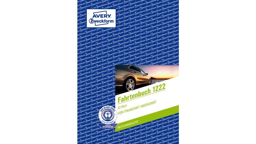 AVERY Zweckform Fahrtenbuch DIN A5 Bogen 32 Blatt