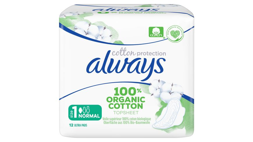 Always Ultra Cotton Protection Normal (Größe 1) Binden mit Flügeln