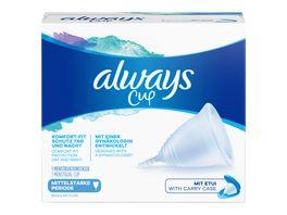 Always Menstruationstasse Menstrual Cup fuer mittelstarke Periode 1 Tasse mit Etui