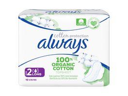 Always ULTRA Damenbinden Cotton Protection Long mit Fluegeln 10ST