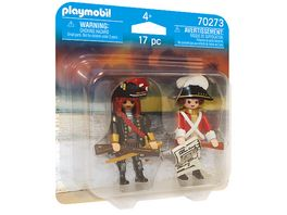 PLAYMOBIL 70273 DuoPack Piratenkapitaen und Rotrock