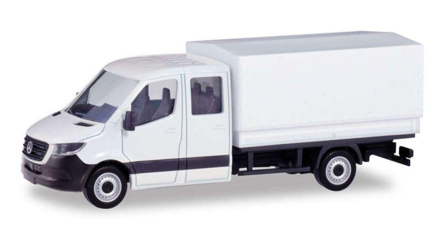 Herpa 013499 - Herpa Minikit: Mercedes-Benz Sprinter neue Doppelkabine mit Pritsche
