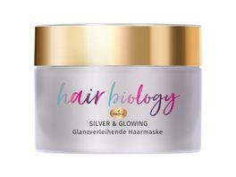 Hair Biology Haarmaske Silver Glowing