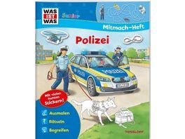 WAS IST WAS Junior Mitmach Heft Polizei