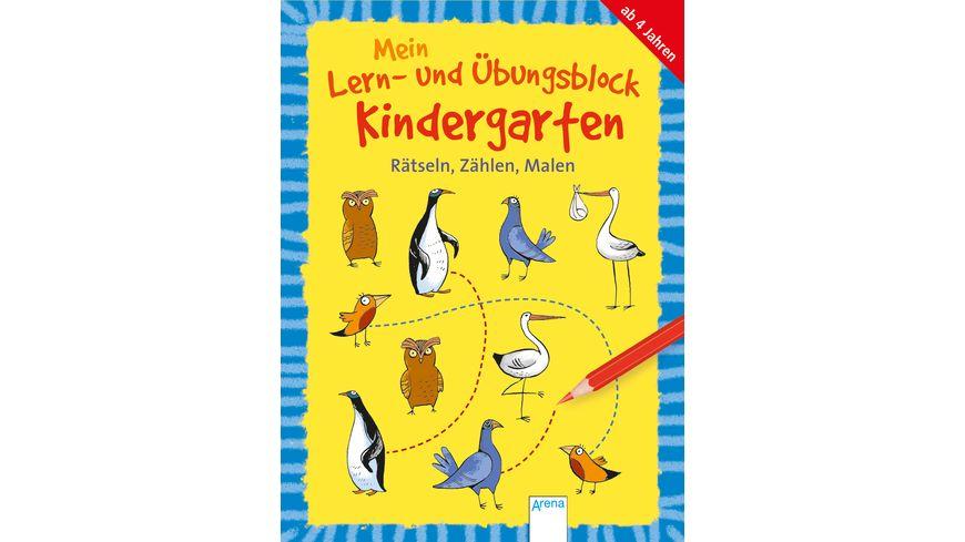 Mein Lern und Uebungsblock Kindergarten Raetseln Zaehlen Malen