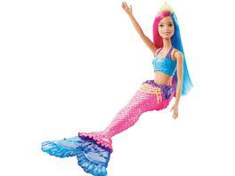 Barbie Dreamtopia Meerjungfrau Puppe pinkes und blaues Haar Anziehpuppe