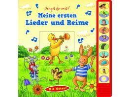 Meine ersten Lieder und Reime Vorlese Pappbilderbuch mit Sound
