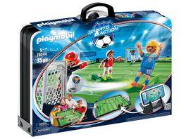 PLAYMOBIL 70244 Sports Action Grosse Fussballarena zum Mitnehmen