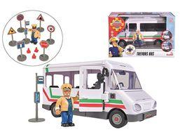 Simba Feuerwehrmann Sam Sam Trevors Bus mit Figur