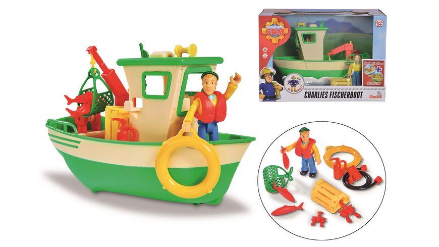 Simba Feuerwehrmann Sam Charlies Fischerboot mit Figur