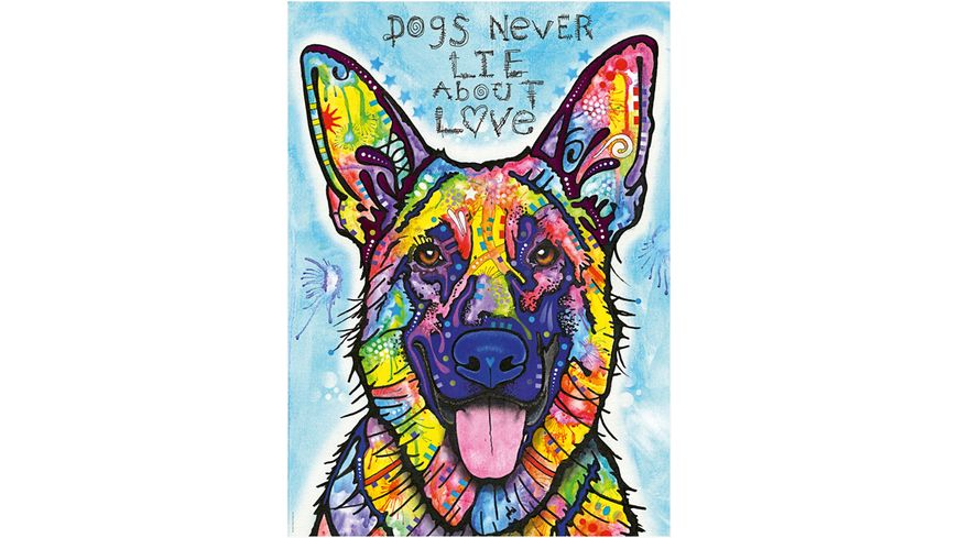 Heye Standardpuzzle 1000 Teile Jolly Pets Dogs Never Lie