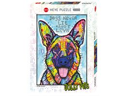 Heye Standardpuzzle 1000 Teile Jolly Pets Dogs Never Lie