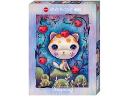 Heye Standardpuzzle 1000 Teile Dreaming Strawberry Kitty