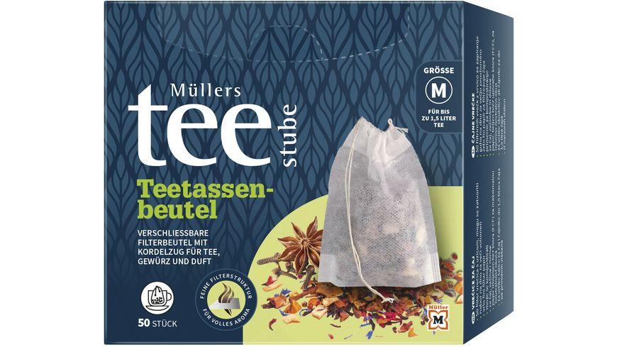 Müllers Teestube Teetassenbeutel mit Verschlussband