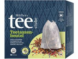 Muellers Teestube Teetassenbeutel mit Verschlussband