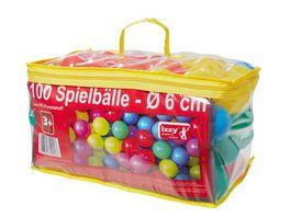 Izzy Sport 100 Spielbaelle mit Tasche