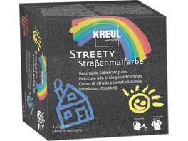 KREUL Streety Strassenmalfarbe Starter Set 4 x 120ml