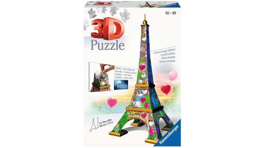 Ravensburger Puzzle - 3D-Puzzle - Eiffelturm Love Edition