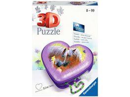 Ravensburger Puzzle 3D Puzzle Organizer 3D Puzzle Herzschatulle Pferde