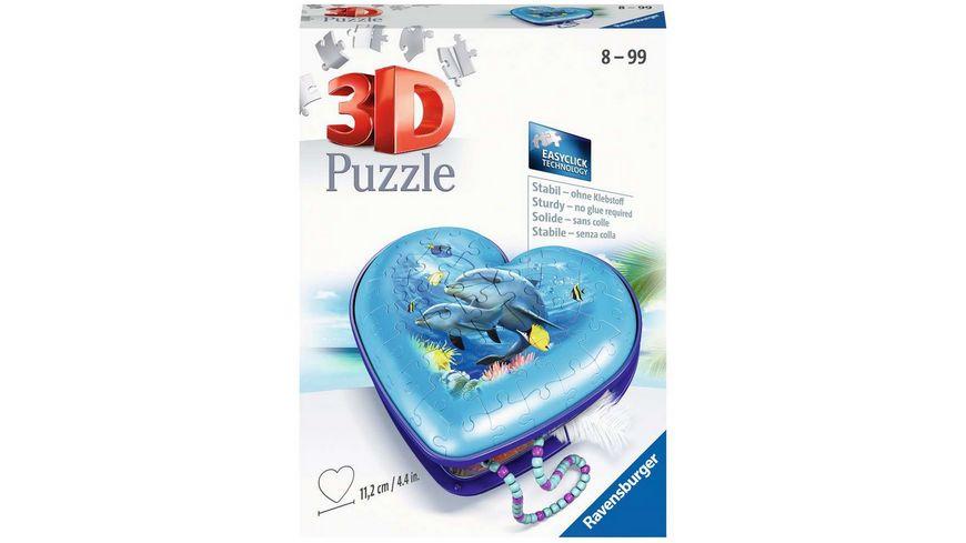 Ravensburger Puzzle - 3D Puzzle-Organizer - Herzschatulle - Unterwasserwelt