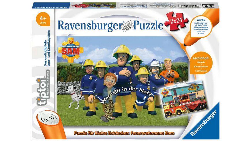 Ravensburger tiptoi Puzzle fuer kleine Entdecker Feuerwehrmann Sam